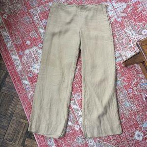 Bennetton low rise, wide leg linen pant.